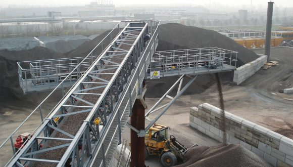 sand and gravel dry bulk processing installation