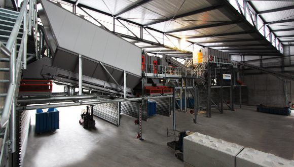 sorting screen for industrial waste